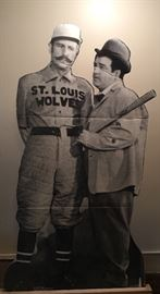 """Life size Cardboard Cutout - Abbot & Costello PLAYS """"Who's On First"""" !"""