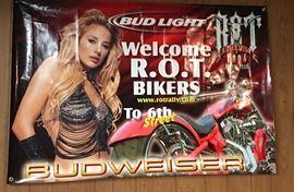 Budweiser Biker Rot Rally Wall Hang