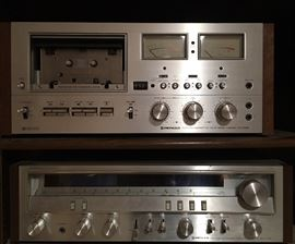 Pioneer Tape Deck (CT-F9191) & Stereo Receiver (SX-3700)