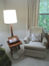 Recliner and lamp table