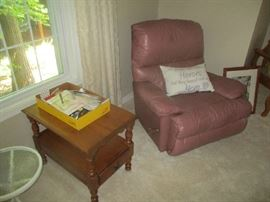 Recliner and end table