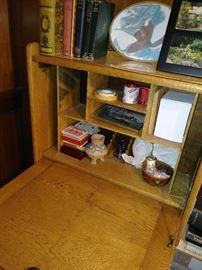 Small antique drop down secretary
