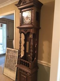 Grandfather Clock -- Open well Westminster Chime