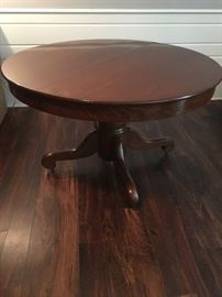 "48"" Round Pedestal Table with 4 - 12"" Leaves"