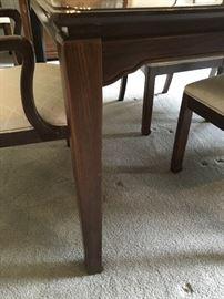 Detail of DAVIS Dining Room Table Leg