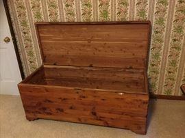 Knotty pine cedar chest