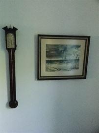 Antique barometer. Betty Bingham artwork