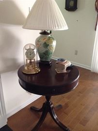 Side Table, Anniversary Clock, Lamp