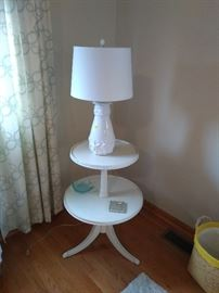 Round table and lamp