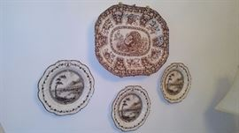 Antique Porcelain Indian tree dishes