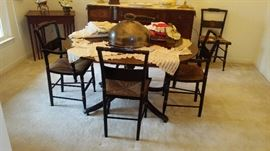 Hitchcock dining room set and chairs