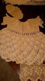 Antique crochet dress