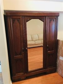 Antique German 3 door Armoire - matching Bed frame available