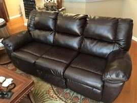 Duraleather  dual reclining sofa