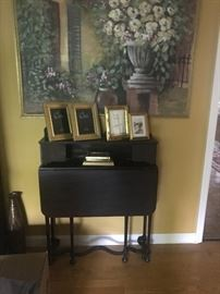 Small antique desk. Folds close to the wall.