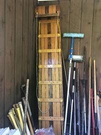 """96"""" Tobaggan. Vintage wooden."""