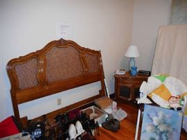 Thomasville French provincial headboard. Can be used as either full or queen. Frame included