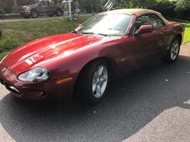 1997 Jaguar XK8 convertible - cardinal red/tan leather interior, 190 HP V8 engine, automatic with Jag clutch, 100,101 miles - just inspected, 5 CD player     This item may be pre-sold $10,800