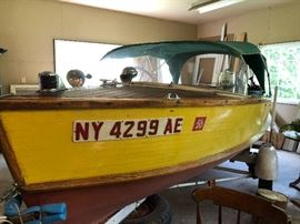 1958 Penn Yan Commander Wood Boat with trailer and 1960's 30HP Mercury motor (reworked)                        $9500 this item may be pre-sold