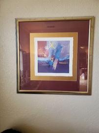 Lot's of framed signed prints.