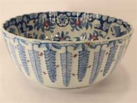 Asian Porcelain Blue & White Bowl