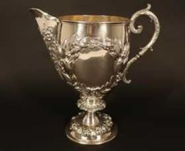 19th Century Sterling Silver Victorian Pitcher, Stephen Smith, London, England, 1877