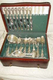 Eighty piece set Westmorland sterling silver flatware set