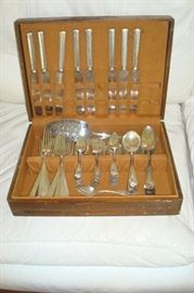 Silverplate flatware set.