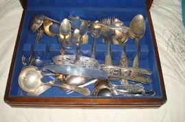 Silverplate flatware.