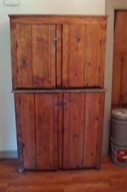 Antique primitive kitchen cupboard.  Can be stacked or used separately.