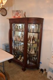 Curio cabinet, decor and figurines