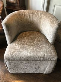 Pair upholstered chairs
