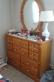 Dresser to bedroom suite.