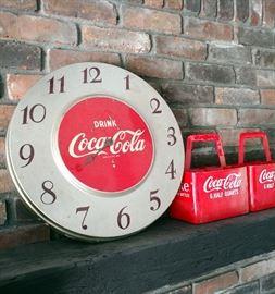 Rare round vintage Coca-Cola clock