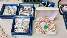 Pearls, necklaces