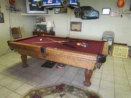 Oak Pool Table (Slate)