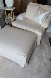comfy Chair with Ottoman