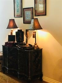 Entry Table, Entry Cabinet, Decorative Lamps,