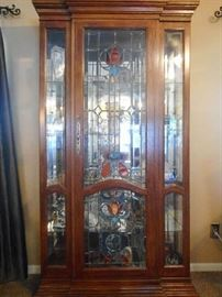 LEADED GLASS CHINA HUTCH