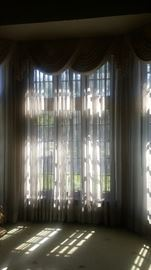 All elegant window treatments are for sale