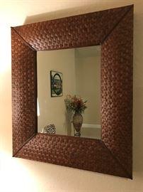 Matching Rattan Mirrors