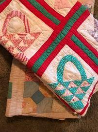vintage handmade quilts