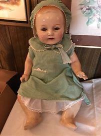 Louis Amberg Vanta Baby Doll with clothes and accessories
