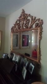 Large beveled decorative mirror