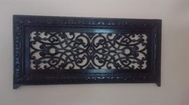 Ornate carved wood panel