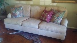 Lexington suede sofa