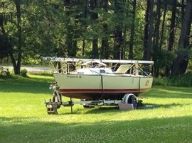 """MAY BE PURCHASED PRIOR TO SALE!  CALL JIM AT 233-5153 TO ARRANGE INSPECTION!              1980 S2 6.7 Grand Slam: $ 5250.00  EZ load trailer with self contained mast raising system 22' Long,  8' beam, 4'3"""" draft with lifting keel down, 10"""" with lifting keel up  Large sail inventory, 2 mains, 5 Headsails, 2 spinnakers. Includes Haarstick racing sails (Triadial pentax main, triradial pentax 155% headsail and .75 oz spinnaker).   Haarstick Racing sails Triradial Pentex with limited use  Includes lifejackets, compass, all spinnaker gear, boomkicker, dock lines, fenders, interior cushions anchor."""