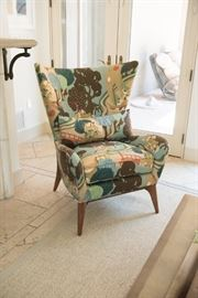 Caracole Mid Century Wingback Chair