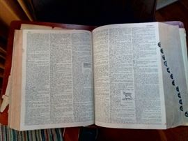 Huge dictionary with lectern