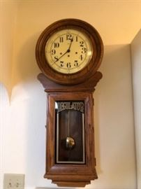 Large Regulator Wall Clock.